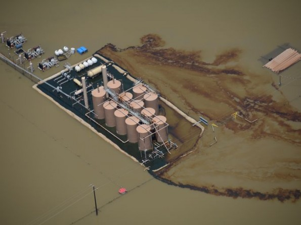 Texas fracking floods